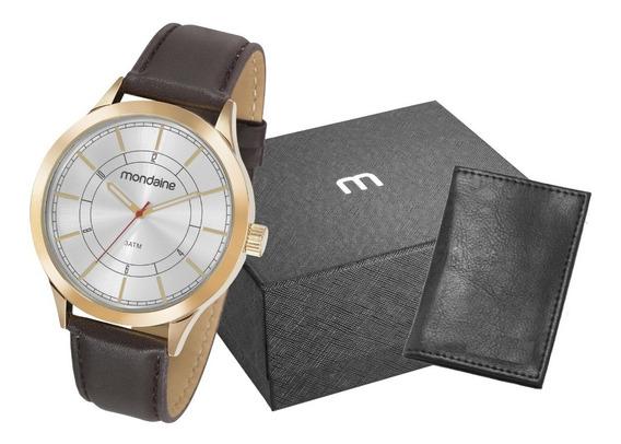 Relógio Masculino Mondaine Dourado Original + Nota Fiscal