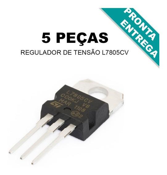 L7805cv / L7805 / Lm7805cv / Lm7805 / St (5 Peças)