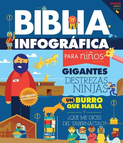 Imagen 1 de 6 de Biblia Infográfica Para Niños De 0 A 99