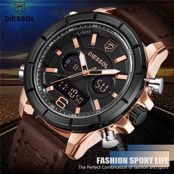 Relógio Masculino Diessol De Luxo À Prova D