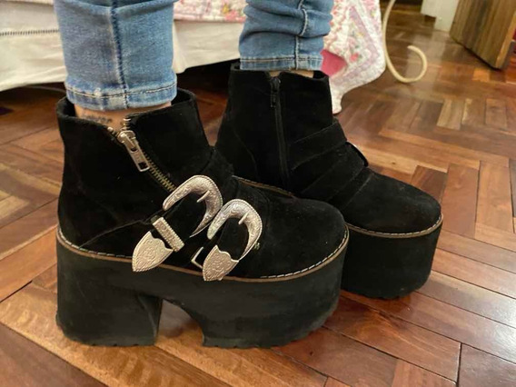 Zapatos Con Plataforma Negros
