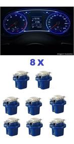 8 Unid Azul Led Painel Modelo B8.5 T5 - Corsa Celta Astra