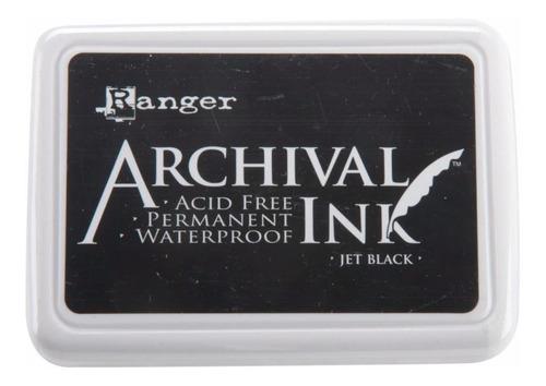 Almohadilla Tinta Archival Ink Jet Black Ranger
