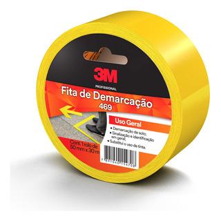 Fita Demarcacao Solo Amarela 50mm X 30 Mt 3m 469