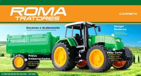 Trator Com Carreta - Roma Brinquedos