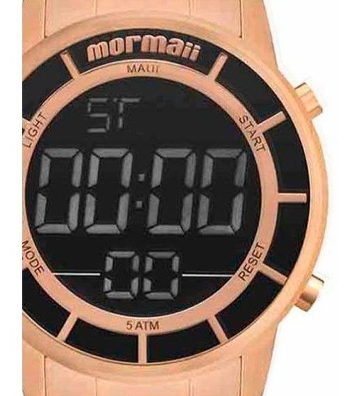 Relógio Mormaii Digital Rose Gold Aço Mobj3463df/4j Original Com Estojo