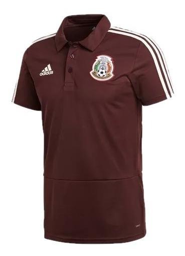 Playera adidas Seleccion Mexicana Hombre Vino Fmf Cf0499