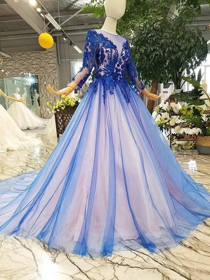 Vestido De Xv Años Azul Ale-190422003