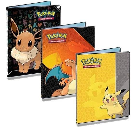 Pasta Fichario Porta Cards Pokemon Magic 180 Cartas +booster