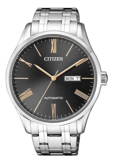 Relógio Citizen Masculino Prata Automático Com Data Original