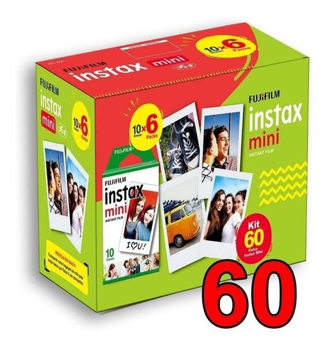 Kit Filme 60 Poses Fotos Instax Mini Fujifilm 54 X 86mm