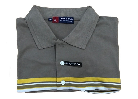 Camiseta Polo Extra Grande Monsieur Manchester