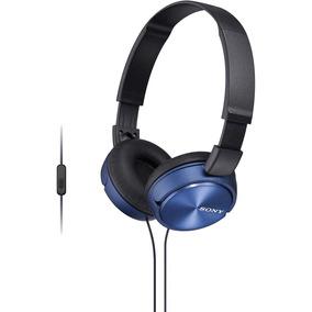 Fone De Ouvido Com Microfone Mdr-zx310ap Preto/azul Sony.