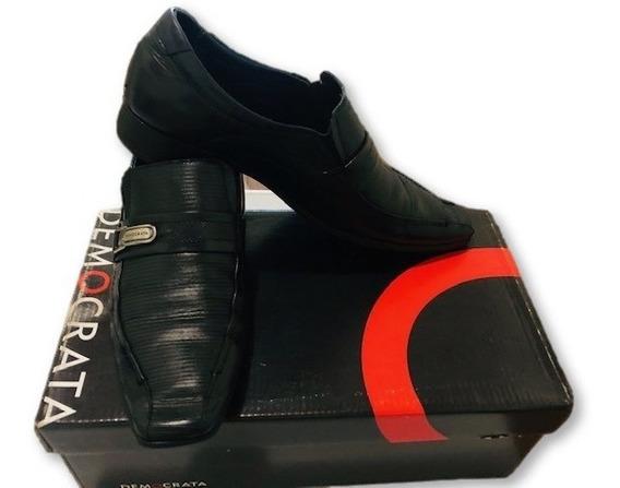 Sapato Masculino Democrata Denver Couro 450047-001 Tam 39