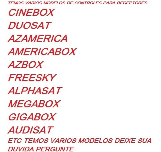 Controle Remoto Para Tv Universal