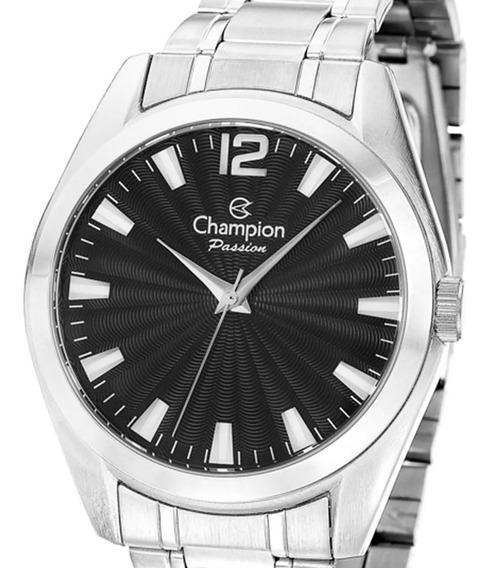 Relógio Champion Feminino Cn29865t Prata Original + Nota