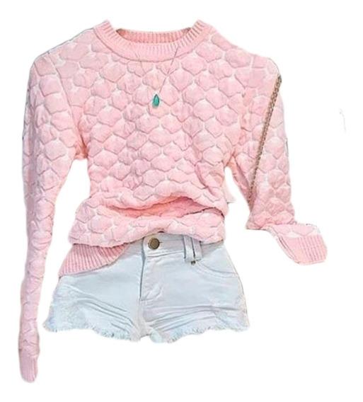 Blusa De Frio Feminina Coração 3d Moda Atacado