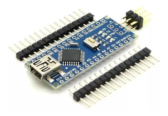 Placa Nano V3.0 Atmega328p Ch340g Arduino Pinos Não Soldado