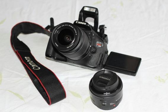 Câmera Canon T3i Com Lentes 50mm E 18-55mm. A Vista 1600