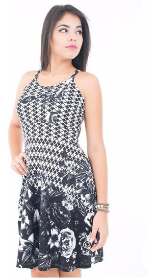 Roupa Feminina Vestido Floral Curto Moda Kit 2 Peças