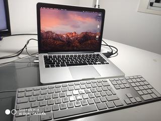Macbook Pro(retina 13 2015) 2.7 8gb Ram Ssd 122gb + Teclado