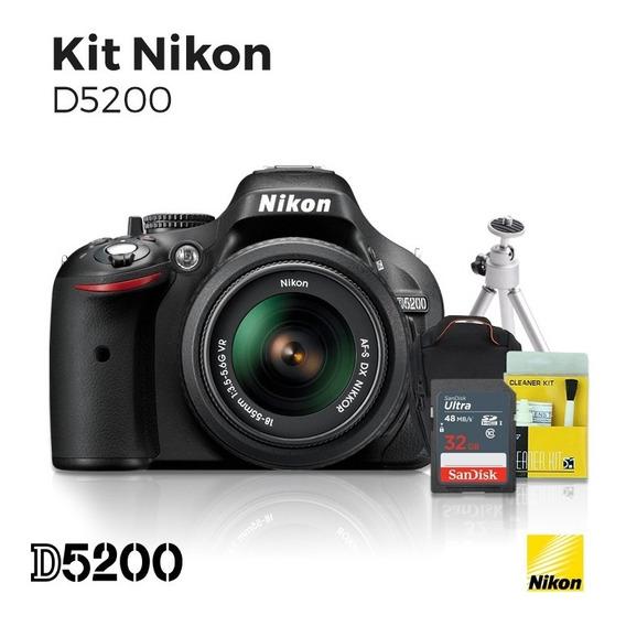 Nikon D5200 18-55+kit 12x S/juros Frete Grátis Master Tronic