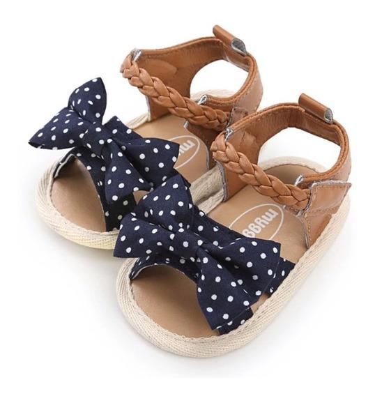 Sapato Infantil Menina Sandalia Bebe Laço Bolinha