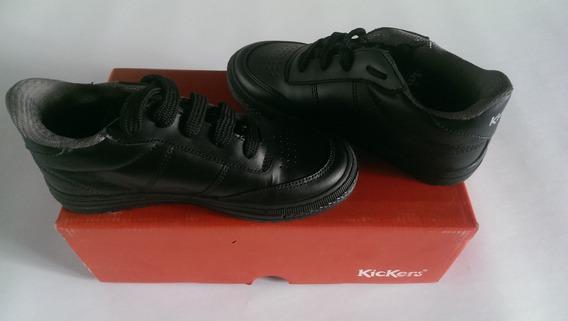 Zapatos Kickers Escolar Original Deportivos Niños Negros
