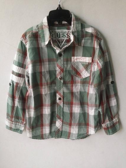 Camisa Guess Niño 4 Años (s) Verde Uso