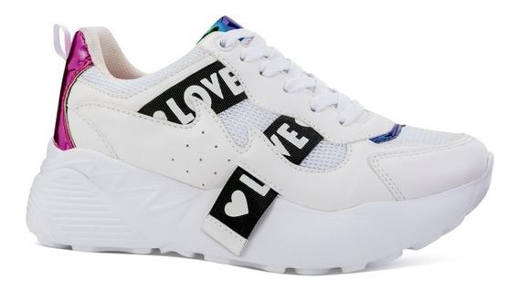 Neosport Tenis Sneakers Casuales Plataforma Texturas 6691121