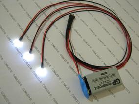 Kit 3 Micro Led Liga-desliga Mini Lampada Bateria 9v Fácil