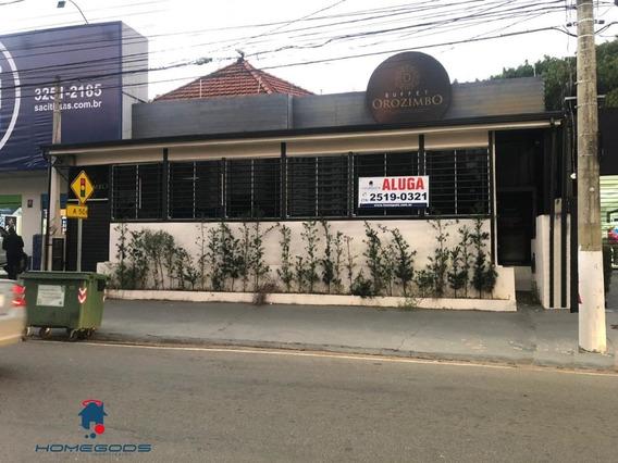Casa Na Orosimbo Maia Para Locação, 5 Salas, 3 Banheiros, 235m - Ca00465 - 34067021