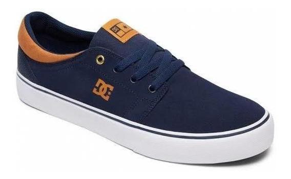 Tênis Dc Shoes Trase S Marinho Branco Frete Grátis