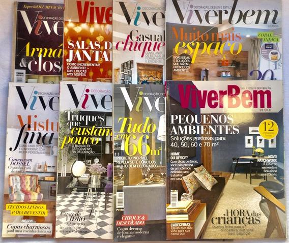 Lote 8 Revistas Decoração E Estilo Viver Bem Frete Grátis