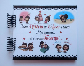 Álbum Scrapbook Namorados História De Amor Favorita #p