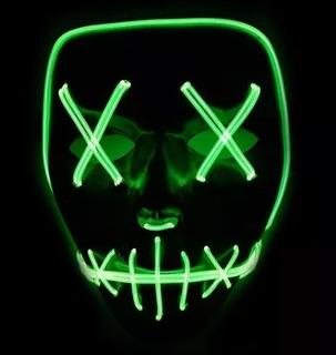 Máscara Led Neon The Purge Darth Vader E Pânico Frete Gratis