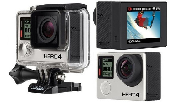 Câmera Gopro Hero 4 Black Com Lcd E Tripé/pau De Selfie