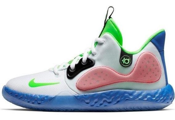 Nike Kd Trey 5 Vii Lime/navy Gs Importación Mariscal