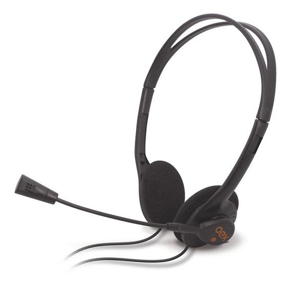 Fone De Ouvido Headset Com Entrada P2 Preto C/ Microfone Oex