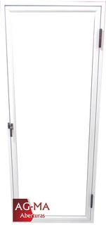 Raja De Abrir Aluminio Blanco Vidrio Entero De 60 X 1,50