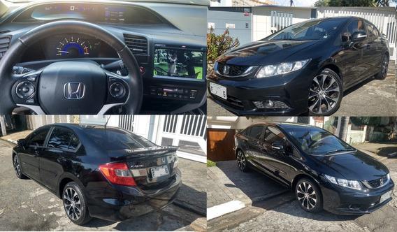 Honda Civic 2.0 Lxr Flex 16v 2015 Automatico C/ Multimidia