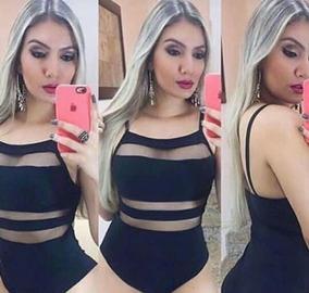 Bory Com Bojo, Preto, Detalhes Em Tule. Moda Feminina.