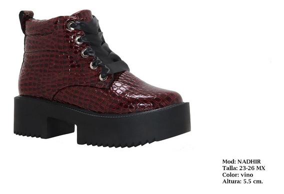 Zapato Plataforma Moda. Botin Mujer