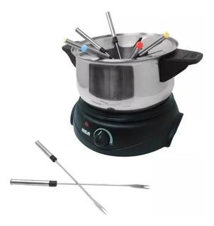 Olla Y Mini Crepa Founde Electrico, 3 En 1 Acero Inoxidable