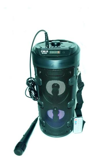 Caixa De Som Bluetooth Rádio Fm Controle Remoto Microfone