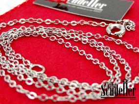 Corrente Cartier Feminina E Masculina Fina Banhada Em Prata