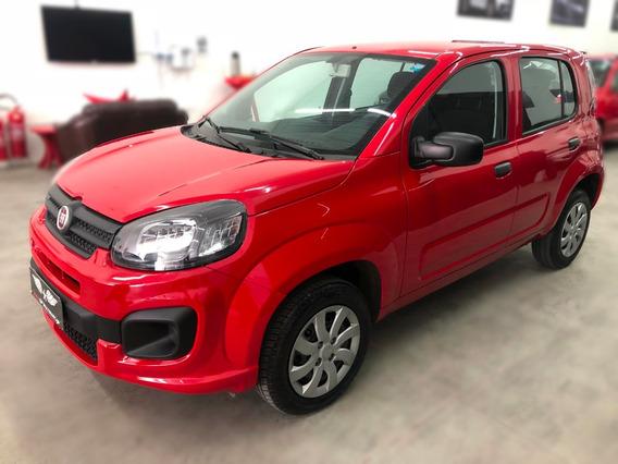Fiat Uno 1.0 Drive Flex 5p Vermelho Completo