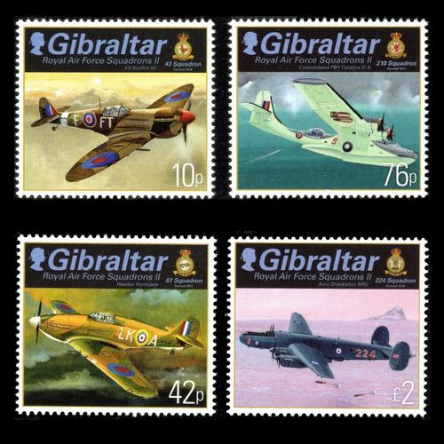 2013 Aviones- Fuerza Aérea Real- Gibraltar (sellos) Mnh