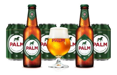 6 Pack De Cervezas Belgas Palm De 330 Ml + Copa Original.