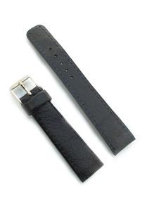 Pulseira Para Relógio Em Couro Preta 20mm Masculina B0652